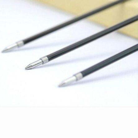 BlackBlue Ink 100pcsLot Ballpoint Pen Refills 0.7mm Refill Stationery School Office Writing Pens Supplies Pens Refills