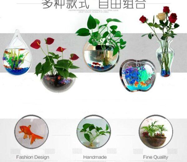 High Quality Acrylic Fish Bowl Wall Mount Fish Tank Aquarium Tank for Fish Aquatic Pet Supplies Pet Products Aquaculture Cup