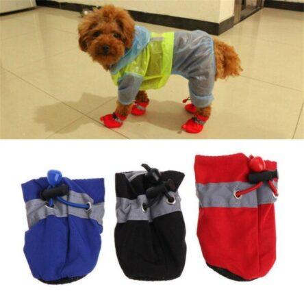 4Pcs Dog Boots Shoes Anti Slip Waterproof Puppy Rain Pet Cat Pet Socks SMLXL