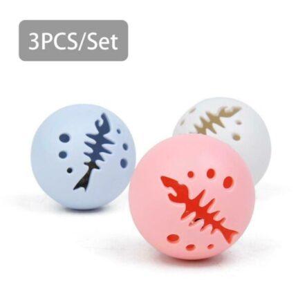 Cat Ball Toys Catnip Bell Ball Flash Light Balls Pet Supplies